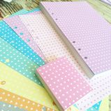 Hearts planner paper pad with 6 Hole Punches to fit A5 binders | Marion Smith Designs