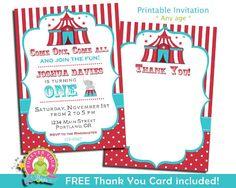 Free Circus Birthday Invitation Circus party invitations Circus