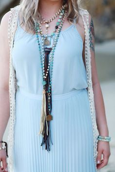 Boho luxe Tassel Necklace, Necklaces, Jewels, Boho, Collection, Fashion, Moda, Jewerly, Fashion Styles