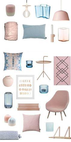 Möbel und Wohnaccessoires in den Trendfarben 2016 Rosa Blau