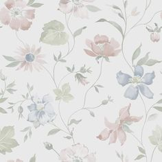 Scandinavian design wallpaper Aquarelle from collection Everyday Life by Borastapeter and Eco Wallpaper Cute Patterns Wallpaper, Fabric Wallpaper, Of Wallpaper, Designer Wallpaper, Floral Printables, Decoupage Paper, All Things Purple, Vintage Roses, Cute Wallpapers