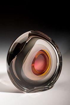 Glass Sculpture by Jon Goldberg Blown Glass Art, Art Of Glass, Perfume, Vases, Glass Photography, Glass Vessel, Glass Marbles, Glass Paperweights, Glass Design