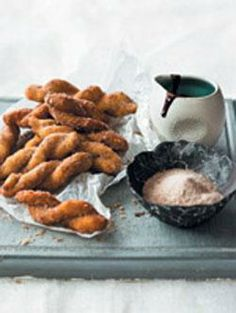Food & Home Entertaining | Vetkoek twists with chocolate coffee dipping sauce