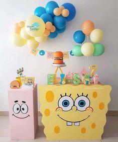 10th Birthday Parties, Baby Birthday, Birthday Party Decorations, Party Themes, Spongebob Birthday Party, Kawaii Disney, Construction Birthday Parties, Ideas Para Fiestas, Clay Crafts