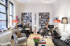 Veronica Swanson Beard and Veronica Miele Beard show off their showroom on Vogue.com