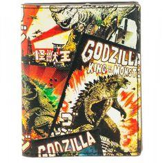 Godzilla Poster Art Vertical Bi-Fold Wallet