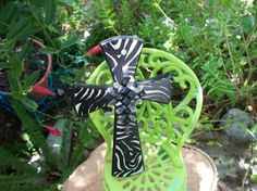 Zebra Cross so fitting for a teens room by Dotster45 on Etsy, $30.00