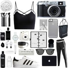 A fashion look from December 2015 featuring adidas activewear pants, adidas Originals sneakers and Chanel handbags. Browse and shop related looks.