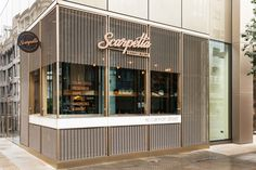 Scarpetta restaurant design and branding by I AM, London UK restaurant branding branding
