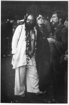 Allen Ginsberg with Maretta Greer and Gary Snyder at the Human Be-In, Golden Gate Park, San Francisco, January 14, 1967. Leo Holub.