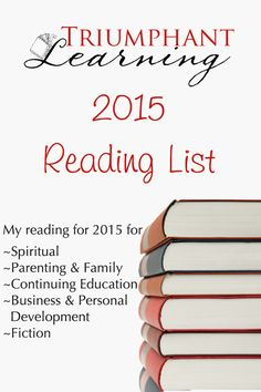 Writing down the books I want to read is a great help to prioritize my reading for the year. Here's my reading plan for 2015.