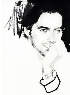David Downton {I wish I could draw men as good as this}