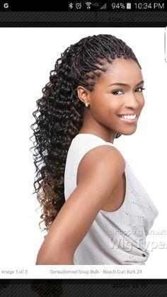 Human hair individual braids