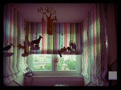Emma&Tommy curtains #homedecor #hangingmobile #eclisselamp #interior