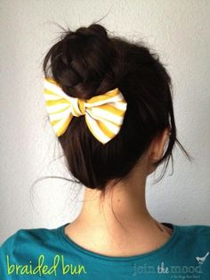 101 Braid Hairstyles You Need to Know   Beauty HighThis is so cute, and the fact that it's so easy gives it bonus points. Make a ponytail, braid the lengths, twist the braid around itself so it coils around the base of the ponytail and secure with an elastic. Pin a bow just underneath the bun and you're set!