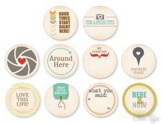Everyday Life II Icons - set of 10 My favorite set!