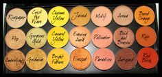 MAC yellow/gold eyeshadows- hate the yellow and orange ones, but love paradisco, pollinator, bold and brazen