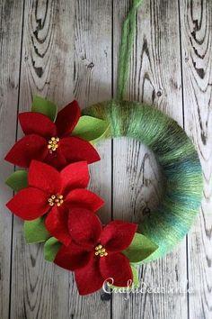 Felt Poinsettia Door Wreath