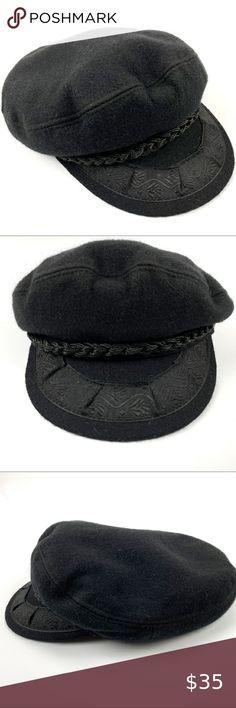 Mens Black Vintage  worn leather look Baseball Cap  fast post 1st class