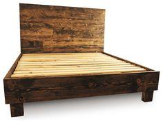 cool rustic platform bed frame king design ideas