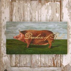 This pig painting is a royal Porker .www.gigibegin.com