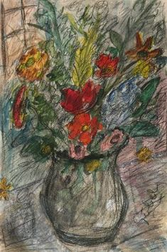 #BÉLA_CZÓBEL  *  Szép festmények, műalkotások Post Impressionism, Flower Art, Flower Paintings, Abstract, Flowers, Artists, Belle, Fall Living Room, Exhibitions