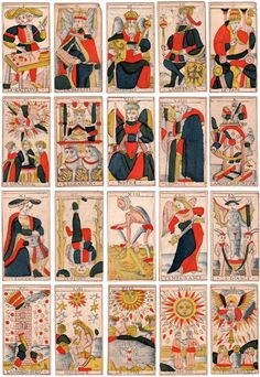 Marseille Tarot Trump cards, Charles Cheminade of Grenoble (France, early 18th century)