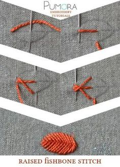 Pumora's embroidery stitch-lexicon: the raised fishbone stitch by ann