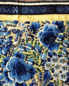 19th century silk embroidery from China http://www.embroiderersguild.com/
