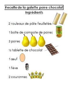recette galette des rois ecole maternelle - Recherche Google