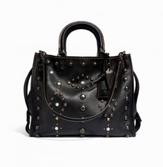 COACH - Western Rivets Rogue Bag - Black
