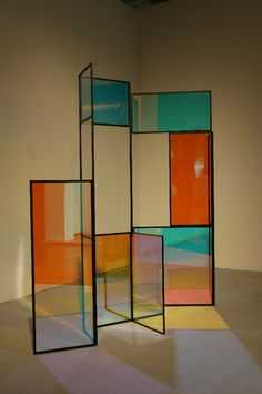 """#Screen -P = Paravent...    Although not an object most consumers pay much attention to, the paravent is one of those furniture pieces that continue to fascinate and inspire designers. At IMM Cologne 2013 Berlin based Camilla Richter presented her stained glass paravent """"And A And Be And Not"""""""