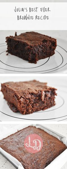 Julia's Best Ever Brownies Recipe