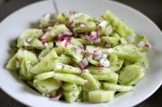 Cucumber Salad with Fresh Dill and Red Onion - The Cookie Writer