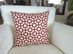 A personal favorite from my Etsy shop https://www.etsy.com/listing/493350292/18x18-red-and-white-pillow-chinese