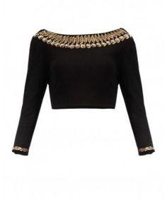 420259e330914 Blouse · Black Blouse DesignsTraditional ...