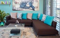 Living Room Decor Turquoise And Brown Home 53 Ideas Living Room Turquoise, Teal Living Rooms, Decor Home Living Room, Living Room Colors, New Living Room, Living Room Designs, Home Decor, Room Interior Design, Home Interior