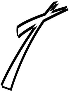 Slanted Cross Outline Decal