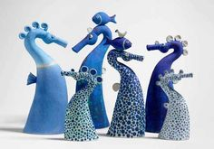 sue crossfield art | Ceramics by Sue Crossfield at Studiopottery.co.uk - Six Seahorses 2005 ...