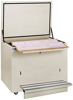 """Ulrich Planfiling 5636-DS-C-ARCH Fire Resistant File Cabinet For Documents with Step, 36"""" x 56"""", Desert Sand"""