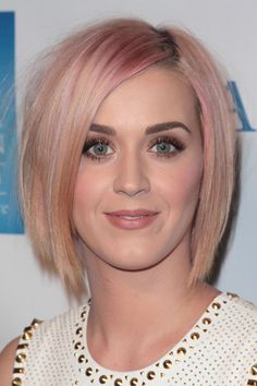 Katy Perry Faded Pink Hair.