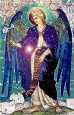 """Arcangelo Gabriele,dolcissimo Arcangelo Gabriele. L'Arcangelo Gabriele viene anche chiamato """"Eroe di Dio"""",  ed è a capo degli ambasciatori per l'umanità, nonché l'Angelo della Rivelazione."""
