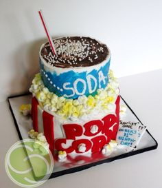 Movie Theater Popcorn and Soda By step0nmi on CakeCentral.com