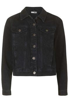 MOTO Washed Black Western Jacket - Topshop USA