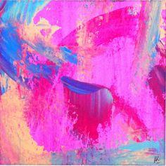 Billevesée congruente - Arylique sur papier - 20x20 cm © Anne Iris Caillette