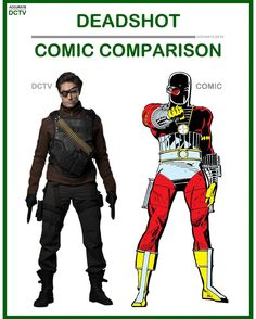 "59 Likes, 5 Comments - • Accurate.DCTV • dctv fanpage (@accurate.dctv) on Instagram: ""• Deadshot - Comic Comparison • Deadshot was a great character in both Arrow season 1 & 2 with a…"""