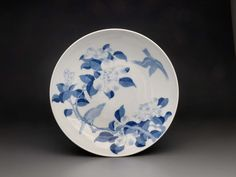 後期藍鍋島 鳥椿紋皿