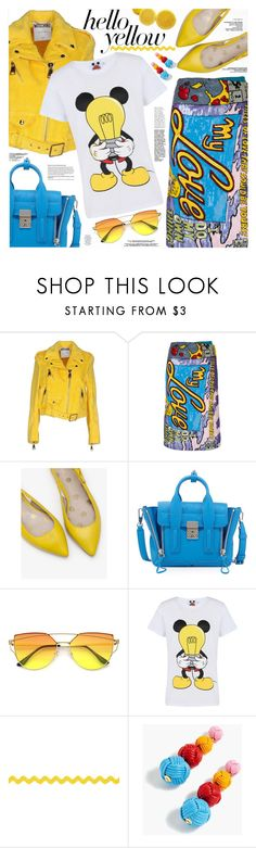 """""""Get Happy: Pops of Yellow"""" by katjuncica ❤ liked on Polyvore featuring Moschino, Olympia Le-Tan, Boden, 3.1 Phillip Lim, Rodnik, J.Crew, PopsOfYellow and NYFWYellow"""