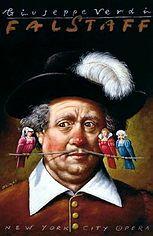 Falstaff opera poster, art by Rafal Olbinski.
