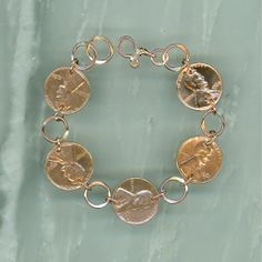 1964 Penny Bracelet 50th Anniversary Gift Coin Jewelry Birthday Women Gifts